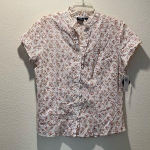 Tops - NWT DCC Missy flower shirt